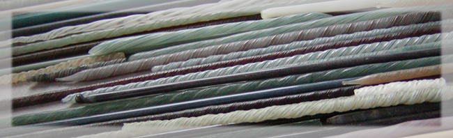 Glass fiber stems used for drawing